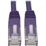 CAT6 CAT5E GIGABIT MOLDED PATCH CABLE RJ45 MM 550MHZ PURPLE 15FT