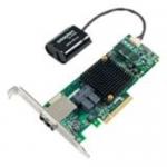 Series 8Q with maxCache Plus - 12Gb/s SAS - PCI Express 3.0 x8 - Plug-in Card - RAID Supported - 0 1 1E 5 6 10 50 60 RAID Level - 16 Total SAS Port(s) - 2 SAS Port(s) Internal - 2 SAS Port(s) External