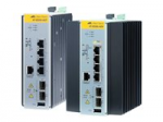 AT IE300-12GT - Switch - L3 - managed - 8 x 10/100/1000 + 4 x Gigabit SFP - DIN rail mountable wall-mountable - DC power
