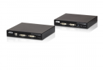 USB DVI DUAL VIEW HDBASET 2.0 KVM EXTENDER (1920 X 1200 @100 M)