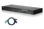 KVM on the NET CS1708i - KVM switch - PS/2, USB - 8 x KVM port(s) - 1 local user - 32 IP users - rack-mountable