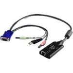 KVM Adapter Cable - RJ-45 Female Network, Type A Male USB, HD-15 Male VGA, Mini-phone Male Stereo, Mini-phone Male Stereo