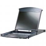 8-Port 19in. Dual Rail CAT5 LCD KVM Over the Net - 8 Computer(s) - 19 inch LCD - 1600 x 1200 - 10 x Network (RJ-45) - 2 x PS/2 Port - 3 x USB - 1 x VGA