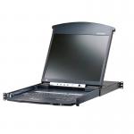 16-Port 17in. Dual Rail CAT5 LCD KVM Over the Net - 16 Computer(s) - 17 inch LCD - 1600 x 1200 - 18 x Network (RJ-45) - 2 x PS/2 Port - 3 x USB - 1 x VGA