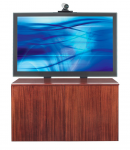 TV Stand - 52 inch to 65 inch Screen Support - 29.5 inch Height x 53.8 inch Width x 23 inch Depth - Oak