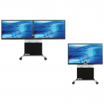 Elite Display Stand - Up to 80 inch Screen Support - 400 lb Load Capacity - Flat Panel Display Type Supported48 inch Width x 32 inch Depth - Floor Stand - Black