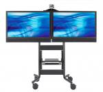 DUAL MOBILE CART F/ PLASMA/LED VIDEOCONFERENCING OFFICE FURNITURE