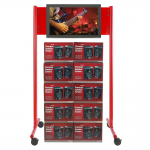 ShowStation Display Stand - 27 inch to 52 inch Screen Support - 80 inch Height x 44 inch Width x 32.3 inch Depth - Powder Coated - Steel