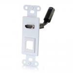 RAPIDRUN HDMI DECORA STYLE WALL PLATE TRANSMITTER WITH ONE KEYSTONE - WHITE