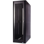 S-Series Rack: 42U 24 inch W 42 inch D Without Panels - 42U Wide - Black