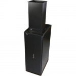 TC Compatible S-Series Rack: 42U  24 inch W 42 inch D with Side Panels - 42U Wide - Black