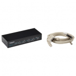 Box ServSwitch DT DVI 4-Port with Transparent USB 2.0 Kit - 4 Computer(s) - 1 Local User(s) - 1920 x 1200 - 8 x USB - 5 x DVI - Desktop