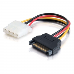 Power adapter - SATA power (M) to 4 pin internal power (F) - 5.9 in - multicolor