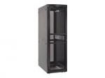 RS Enclosure Colocation - Rack - cabinet - black black trim - 48U