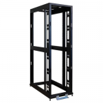 Lite 45U Mid-Depth 4-Post SmartRack Premium Open Frame Rack - 19 inch 45U Wide - Black