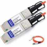 40GBase-AOC direct attach cable - TAA Compliant - QSFP+ to QSFP+ - 0.5 m - fiber optic - active