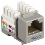 Box CAT5e Value Line Keystone Jack Gray 25-Pack - 25 Pack - 1 x RJ-45 Female - Gold-plated Contacts - Gray