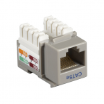 Box CAT5e Value Line Keystone Jack Gray 5-Pack - 5 Pack - 1 x RJ-45 Female - Gold-plated Contacts - Gray