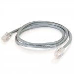 Cat5e Non-Booted Unshielded (UTP) Network Patch Cable - Patch cable - RJ-45 (M) to RJ-45 (M) - 10 ft - UTP - CAT 5e - stranded - gray (pack of 100)