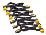 Power cable - IEC 60320 C13 to IEC 60320 C14 - 10 A - 2 ft - 90 connector - black - North America - for P/N: SRT10KXLT-IEC SUA750IX38