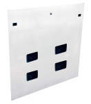 RS Accessories - Rack cable entry panel - side - white - 45U