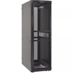 RS Enclosure Server - Rack - cabinet - black black trim - 45U