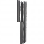 B-Line RCM+ Vertical Cable Manager Dual Sided High Density 6 inch W X 84 inch H Flat Black - Cable Manager - Flat Black - 1 Pack - Aluminum Plastic