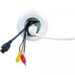Wiremold Flat Screen TV Cord and Cable Power Kit - Cable wall grommet kit - white