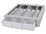 StyleView Supplemental Storage Drawer Triple - Mounting component ( drawer module ) - gray white