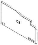 Front cover assembly - Plastic cover that protects the front part of the printer