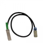 SFF-8470 to QSFP 3m (9.84ft) InfiniBand (IB) copper cable - Fourteen Data Rate (FDR) 56Gbps cable with SFF-8470 connector on one end and Quad Small Form-factor Pluggable (QSFP) connector on the other end