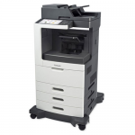 MX811DTPE Laser Multifunction Printer - Monochrome - Plain Paper Print - Desktop - Copier/Fax/Printer/Scanner - 63 ppm Mono Print - 1200 x 1200 dpi Print - 63 cpm Mono Copy - Touchscreen - 600 dpi Optical Scan - Automatic Duplex Print - 1750 sheet