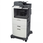 MX811DXPE Laser Multifunction Printer - Monochrome - Plain Paper Print - Desktop - Copier/Fax/Printer/Scanner - 63 ppm Mono Print - 1200 x 1200 dpi Print - 63 cpm Mono Copy - Touchscreen - 600 dpi Optical Scan - Automatic Duplex Print - 2750 sheet