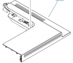 Upper cover - Plastic L shaped cover that protects the upper part of the printer