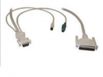 ULTRACABLE - PC VGA / PS2 KM SWITCH TO KVM COAX - HIGH RESOLUTION5 FT DB25M T