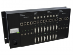POWERED RACK/CHASSIS with DUAL DVI-D AUDIO CAT6 STP TRANSMITTER