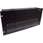 POWERED RACK/CHASSIS WITH DUAL DVI-D CAT6 STP RECEIVER