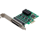 Multimedia 4-port PCIe Serial Card - PCI Express 2.0 x1 - 4 x RS-232 Serial Via Cable - Plug-in Card