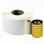 Direct Thermal Quad Pack - 1 in x 4 in 22400 pcs. (4 roll(s) x 5600) labels - for Wasp WPL606 WPL606EZ WPL614 WPL618
