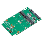 Dual mSATA SSD to SATA III RAID Enclosure with Complete Screw Set