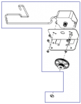 Transmission motor assembly - Located on the transmission drive assembly - Makes the gear move the timing belt