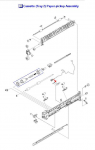 Paper sensor cover - Cover for paper sensor flag on 250 sheet paper cassette
