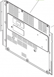 Rear cover - Plastic cover that protects the rear part of the printer