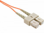 FIBER OPTIC PATCH CABLE SC-SC 50 125 MULTIMODE DUPLEX ORANGE 90M