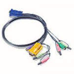 KEYBOARD / VIDEO / MOUSE / AUDIO CABLE - 15 PIN SPHD;MINI-PHONE 3.5 MM - MALE -