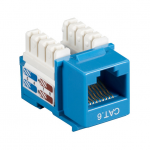 Box CAT6 Value Line Keystone Jack Blue 10-Pack - 10 Pack - 1 x RJ-45 Female - Gold-plated Contacts - Blue