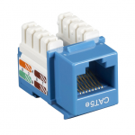 Box CAT5e Value Line Keystone Jack Blue 10-Pack - 10 Pack - 1 x RJ-45 Female - Gold-plated Contacts - Blue
