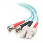3m SC-ST 10Gb 50/125 OM3 Duplex Multimode PVC Fiber Optic Cable - Aqua - Fiber Optic for Network Device - SC Male - ST Male - 10Gb - 50/125 - Duplex Multimode - OM3 - 10GBase-SR 10GBase-LRM - 3m - Aqua
