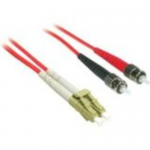 LC-ST 62.5/125 OM1 Duplex Multimode Fiber Optic Cable (Plenum-Rated) - Patch cable - LC multi-mode (M) to ST multi-mode (M) - 5 m - fiber optic - 62.5 / 125 micron - OM1 - plenum - red