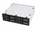 Snap-In Drive Enclosure Internal - 4 x HDD Supported - Serial ATA/600 Controller - 4 x Total Bay - 4 x 2.5 inch Bay - Serial ATA/600 SAS - Cooling Fan